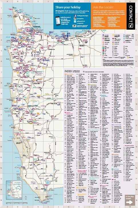 Margaret River Map map snip   MRBTA