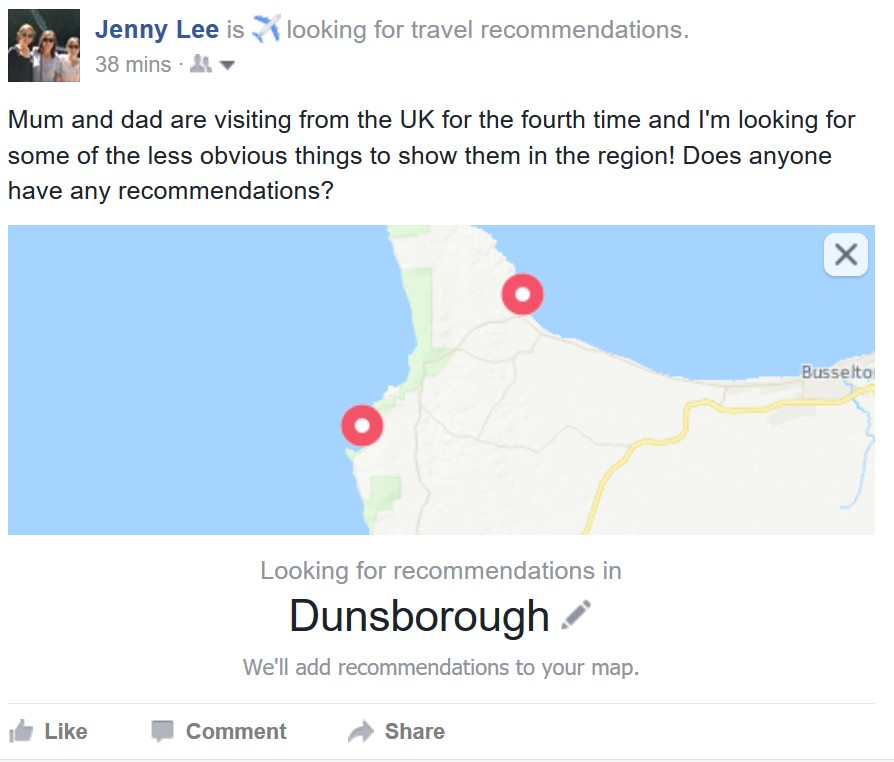 One To Watch Facebook Travel Recommendations Mrbta