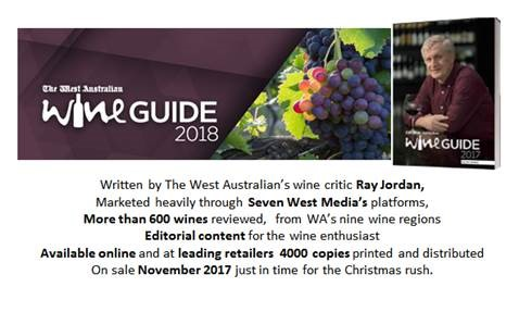 Advertising opportunity: The West Australian's Ray Jordan Wine Guide 2018