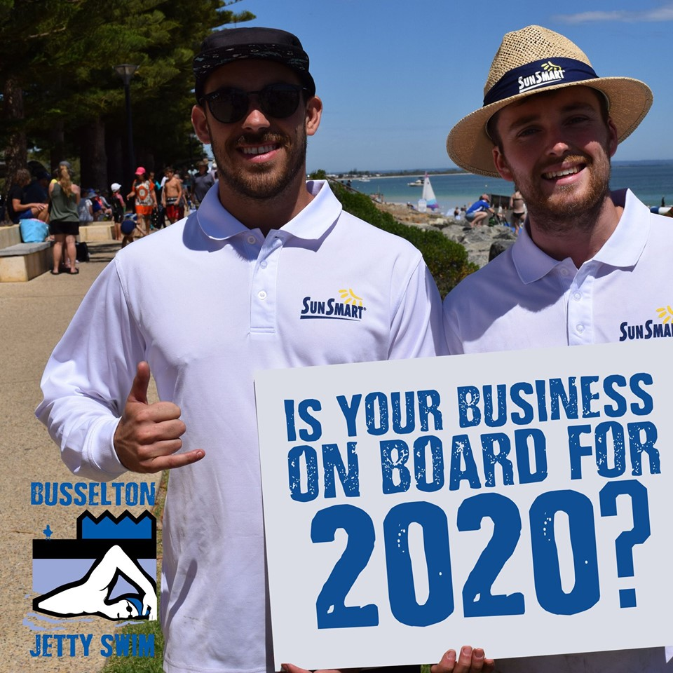 Opportunity to become a partner with the Busselton Jetty Swim 2020