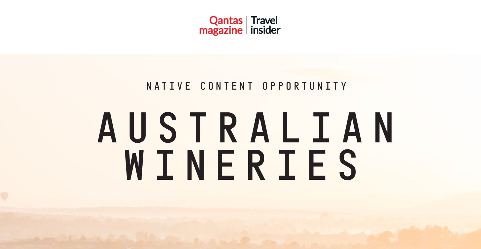Qantas Travel Insider Native Content Opportunity for Wineries