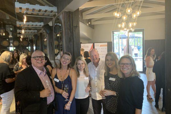 Trent Bartlett (MRBTA Board Chair), Danielle Swift & Amanda Keady (Swings), Stephen Larcombe (Vanguard Press), Jodie Darragh (Jodie Darragh Communications), Sophie Mathewson (MRBTA)