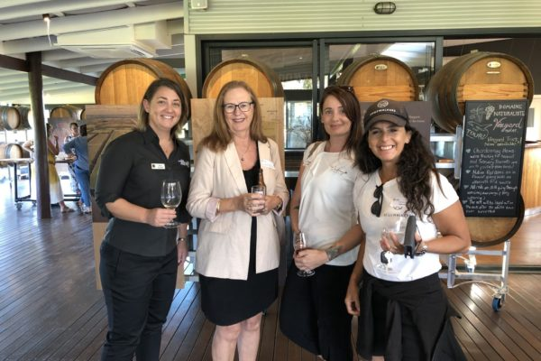 Peta Fussell (MRBTA), Sharon Owen (South West Charter Vehicles), Nerida Parker-Lee (The Colony Concept) and Erika Jacobson (Edgewalkers).