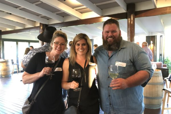 Chelsea Dix and Ash McLaren from Flametree Wines with Ryan Pollock from Howard Park Wines
