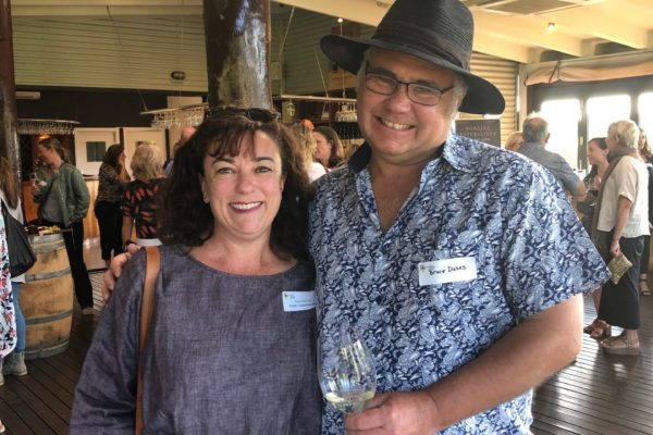 Janine Pittaway (Bright Communications) and Bruce Dukes (Domaine Naturaliste).