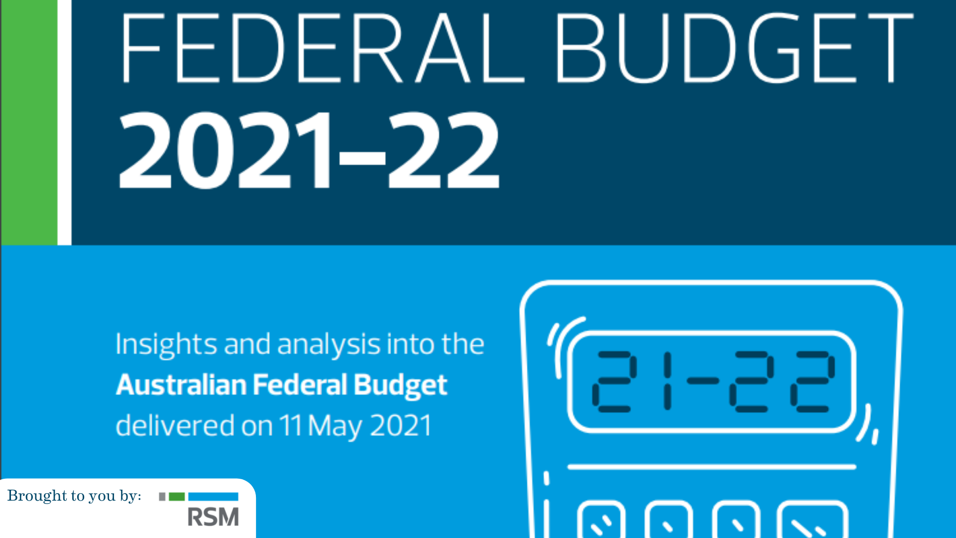 RSM Australia: 2021-22 Federal Budget – A missed flight for the tourism & hospitality industry